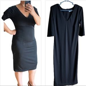 Black dress NWOT pretty fit 3/4 sleeves Warehouse